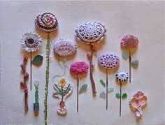 lovely crochet flower stones by knitalatte11