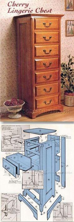 Lingerie Chest Plans - Furniture Plans and Projects   WoodArchivist.com