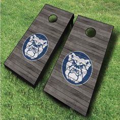 Enjoy a fun time with these Butler Bulldogs cornhole boards featuring a distressed wood design. These officially licensed NCAA cornhole...