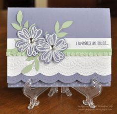 Stampin up Flower Shop Belated Birthday