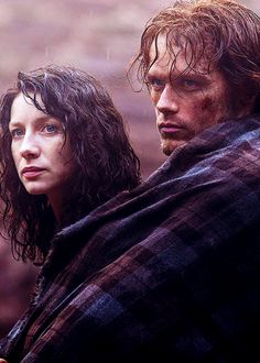 "~ Jamie & Claire get to know each other; she as the unwilling ""guest of Clan MacKenzie"", and he, the injured Scottish Highlander with a price on his head.  Outlander, S1, Pilot episode"