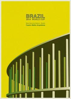 Galeria - Ilustrações dos estádios da Copa no Mundo no Brasil, por André Chiote - 21