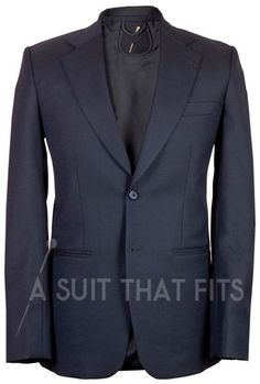 Navy Distinguished Two Piece Suit with a navy lining.