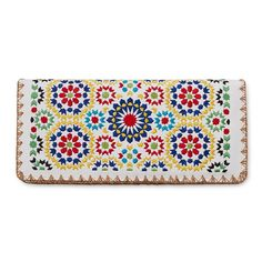 This cruelty-free leather billfold was inspired by zellige, the lavish tilework that adorns Moroccan mosques.