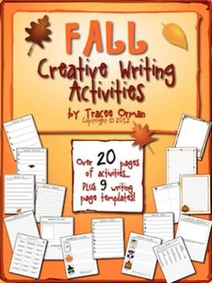Fall Creative Writing Activities & Handouts - over 20 activities to practice creative writing. Poetry, short stories (includes group work), and short narratives.