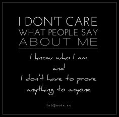 I don't care Quote