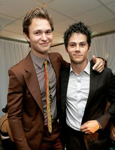 Two of my favorite celebrities Ansel Elgort and Dylan O'Brien