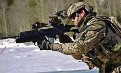German Armed Forces Bundeswehr soldier equipped with Gladius Future Soldier System