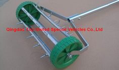 Lawn Aerator Rolling Fertilizer Landscaping Yard Grass Seeding Tool Tc0093
