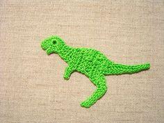 Crochet dinosaur free applique pattern