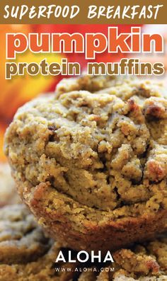 Pumpkin Protein Muffins.                                                                                                                                                      More