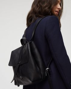 Blake Leather Backpack // the grey or pink one would do me nicely too