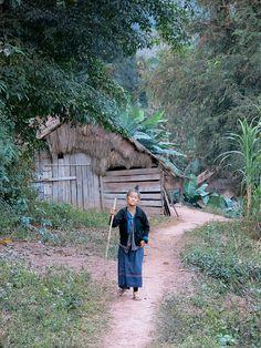 Hmong Woman.  Mekong River, Laos
