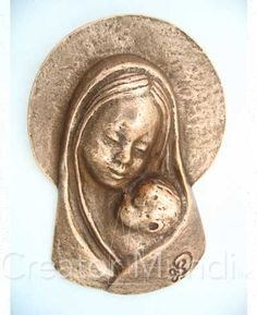 Our Lady of Tenderness Plaque, solid bronze, made in Germany, $42.95