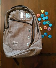 378cd7a139fb New intel idf developers conference backpack bag swag developer swag w  17  pins