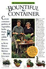 The basics of container gardening: Thrillers, Fillers and Spillers. Lists of suggested plants and plant combination 'recipes' and examples.