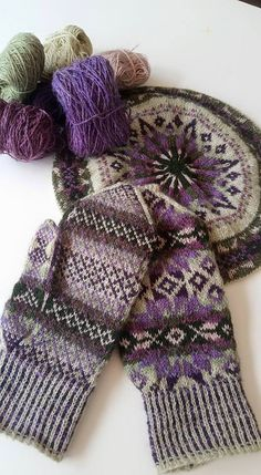 Traditional Fair Isle Tam & Mittens, pattern by Alice Starmore, yarn selection and knitting by Bev