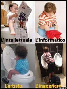 Intellettuale - Informatico - Artista - Ingegnere Funny Babies, Funny Kids, Cute Babies, Weird Pictures, Baby Pictures, Funny Jokes, Hilarious, Unique Baby, Kids And Parenting