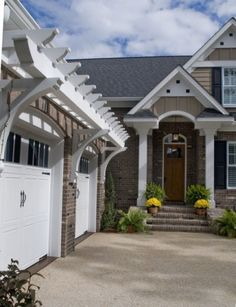 A wall-mounted pergola is the ultimate garage accessory. Traditionally mounted above the garage door with brackets supporting it from below, pergolas feature purlins that sit directly on rafters. Architecturally, they act as a focal point that connects and intrigues, and — best of all — they increase your property's curb appeal.