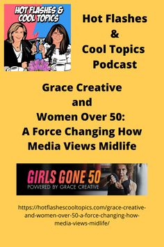 Advertising is an incredibly important aspect in ensuring brands and products for midlife women are properly marketed. Kathy Sjogren and Susan Lee Colby, co-founders of Grace Creative LA are two women helping women over fifty have their voices heard. In today's episode, we sat down with Kathy and Susan to discuss their advertising agency and the realities of being a midlife woman in the advertising business. Susan Lee, Hot Flashes, Over 50, Advertising Agency, Menopause, 50th, Change, Woman, Cool Stuff