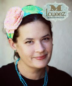 Shabby Chic Headband Vintage Amy Butler Headwrap. #headband