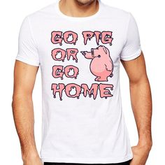 4cd823a76 Men's 2017 Funny Go Pig Or Go Home Design T Shirt High Quality Cool Tops  Hipster Summer Tees