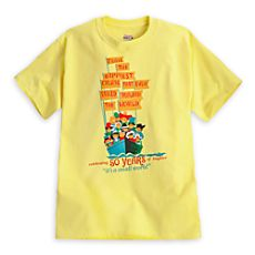 ''it's a small world'' Attraction Poster Tee for Adults - 50th Anniversary