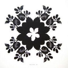 blackberry silhouette (jenny lee fowler) Tags: black art nature leaves paper berry blossom cut blackberries scherenschnitte papercutting jennyleefowler