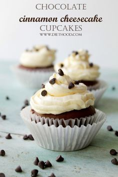 Chocolate Cinnamon Cheesecake Cupcake Recipe - Cupcake Daily Blog - Best Cupcake Recipes .. one happy bite at a time!