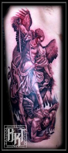 Andrew R Trull/ custom tattoo artist Custom Tattoo, I Tattoo, Tattoo Artists, Fashion Art, Angel, Traditional, Gray, Black, Design