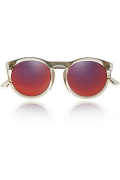 Check out Cheshire Round Frame Acetate Mirrored Sunglasses by Le Specs #lespecs #acetate #mirror
