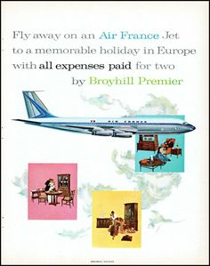 Vintage Travel, Vintage Airline, Airplane Flying, Air France, How To Memorize Things, Europe, Holiday, Vacations, Holidays