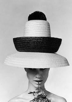 Photo: Karen Radkai, 1963. Hat by Galitzine.