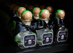 Day of the Dead wedding favor mini patron bottles. If I ever get married I'm having a day of the dead wedding. Halloween Wedding Favors, Best Wedding Favors, Our Wedding, Dream Wedding, Destination Wedding, Gothic Wedding, Wedding Invitations, Wedding Stuff, Wedding Bands