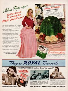 1940 Royal Dessert Pudding print ad Alice Face as by Vividiom, $9.00