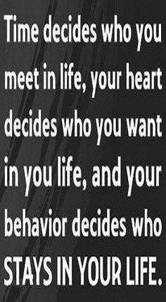Time decides....