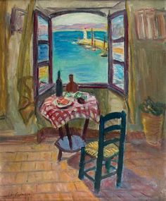 CHARLES CAMOIN (1879-1965)  The Open Window