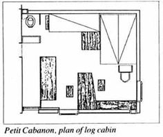 Le Petit Cabanon, 1949, France.  Le Corbusier