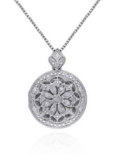 Belk  Co.  Diamond Locket Pendant in Sterling Silver