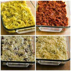 Low-Carb and Gluten-Free Mock Lasagna Spaghetti Squash Casserole
