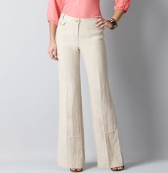 Marisa Structured Linen Trouser Pants