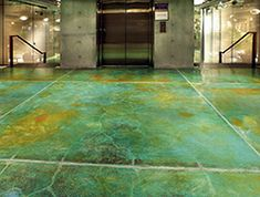 Acid Etching Concrete Stain Stained Concrete Floors