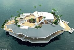 This creates a whole new category in houseboats.