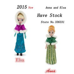 """Find More Dolls Information about 2015 New High Quality Boneca Winter Anna Elsa Plush Dolls 40cm/16"""" Princess Doll Plush Toys Kids Dolls for Girls Free Shipping,High Quality toy testing,China doll band Suppliers, Cheap toy doll clothes from Black Knight Store on Aliexpress.com"""