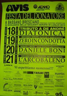 Festa del Donatore a Bassano Bresciano http://www.panesalamina.com/2013/14081-festa-del-donatore-a-bassano-bresciano.html