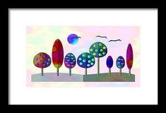 Print, Design, Fractals, Wall Art, Prints For Sale, Stylized, Colorful Landscape, Art, Color