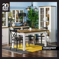 Amenajează un spațiu plăcut și primitor pentru servirea mesei. #blackfriday2018 #mobexpert #mobilier #reduceri Black Friday, Table, Furniture, Home Decor, Decoration Home, Room Decor, Tables, Home Furnishings, Home Interior Design