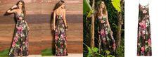 Vestido Longo de Alças Tropical