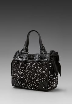 Juicy Couture Studded Velour Daydreamer in Black/Silver - revolveclothing.com