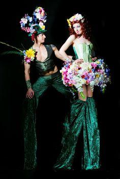 Spring Bouquet Stilt Walkers